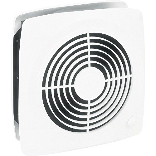 Broan Room-to-Room Ventilation Fan, Plastic White Square Exhaust Fan, 6.5 Sones, 380 CFM, 10