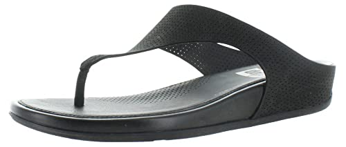0807ea5f07c20a FitFlop Womens Banda Perforated Thong Sandal Shoes