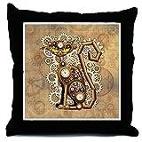 CafePress Steampunk Cat Vintage Style - Decor Throw Pillow (18''x18'')