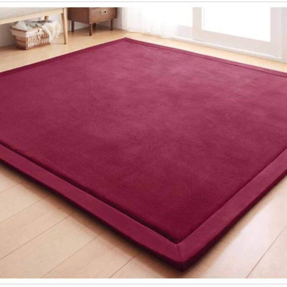 FENGDONG Mats Large Carpets Thickened Bedroom Playmat Home Lving Room Rug Floor Color 07 200x400cm by FENGDONG