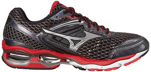 Mizuno Men's Wave Creation 17 Running Shoe, Dark Shadow/Silver, 11 D US