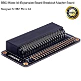 MakerFocus BBC Micro: bit Expansion Board Breakout Adapter Board, Convenient to Lead All the Micro: bit Interface, with Welding Curving Pin Header, Designed for BBC Micro: bit Board