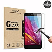 [3-Pack] Honor 5X Glass Screen Protector, Akwox Tempered Glass Screen Protector for Huawei Honor 5X [9H Hardness] [Crystal Clear] [Scratch Resist] [Bubble Free]