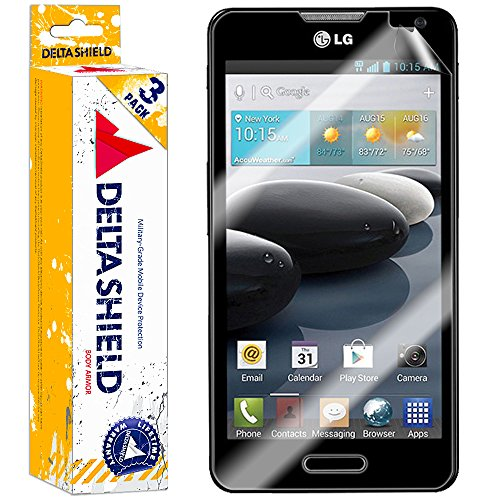 [3-PACK] DeltaShield BodyArmor – LG Optimus F6 Screen Protector – Premium HD Ultra-Clear Cover Shield with Lifetime Warranty Replacements – Anti-Bubble & Anti-Fingerprint Military-Grade Film