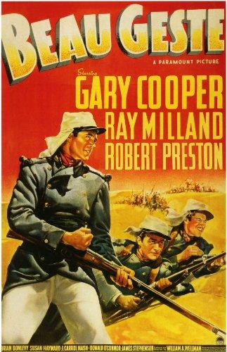 Beau Geste Poster Movie B 11x17 Gary Cooper Ray Milland Robert Preston Brian Donlevy