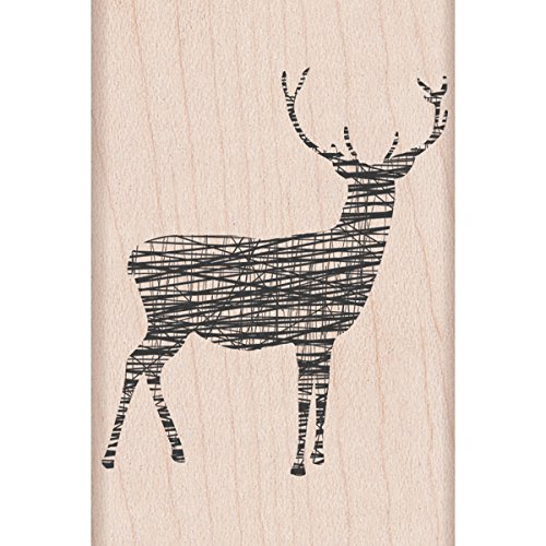 Hero Arts Rubber Stamps, Cross-Hatch Reindeer