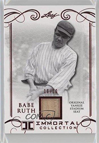 Babe Ruth #/20 (Baseball Card) 2017 Leaf Babe Ruth Immortal Collection - Yankee Stadium Seat - Red Spectrum [Memorabilia] #YS-30
