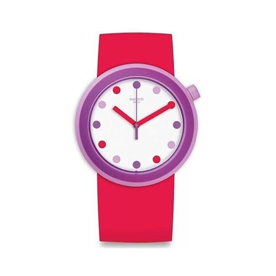 Swatch para hombre Originals pnp100 rosa silicona reloj cuarzo suizo: Swatch: Amazon.es: Relojes