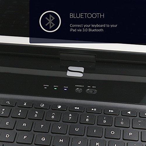 Ipad Mini 4 Keyboard Snugg Black Wireless Bluetooth
