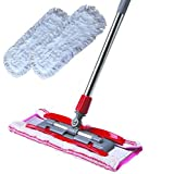 W-Home Detachable Mop Cleaner Adjustable Mop Rod Kitchen Bathroom Super-Absorbent Microfiber Cleaning Mop