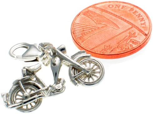 Welded Bliss Argent Massif vintage Moto Clip Charm Wbc1279