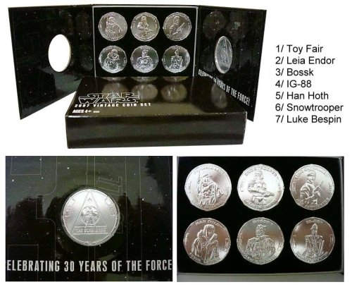 Star Wars Coin Set (Star Wars 30th VINTAGE MAIL AWAY COIN SET TOY FAIR 2007)