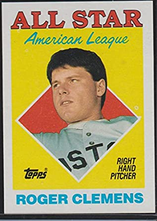1988 Topps Roger Clemens Red Sox All Star Baseball Card 394