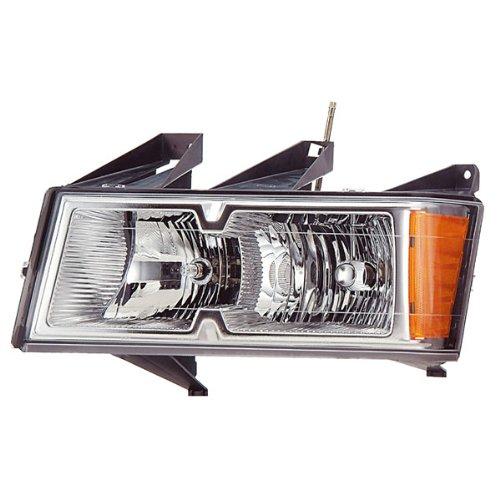 Koolzap For Canyon Colorado Chrome Bezel Headlight Headlamp Head Light Lamp Left Driver Side (Headlight Chrome Canyon Headlamp)
