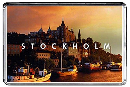 GIFTSCITY E050 STOCKHOLM FRIDGE MAGNET SWEDEN TRAVEL PHOTO REFRIGERATOR MAGNET