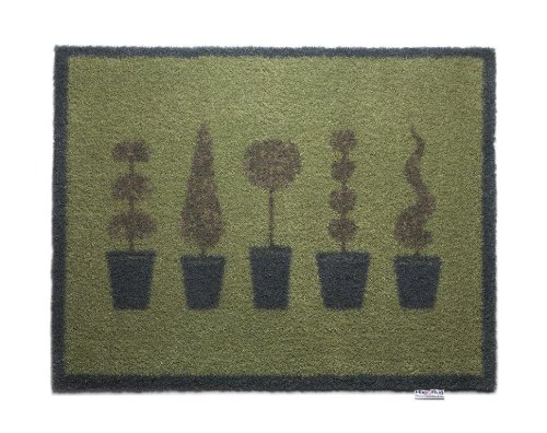 Topiary Trees Bosmere Hug Rug Eco-Friendly Absorbent Dirt Trapping Indoor Washable Mat, 25.5  x 33.5 , Topiary Trees
