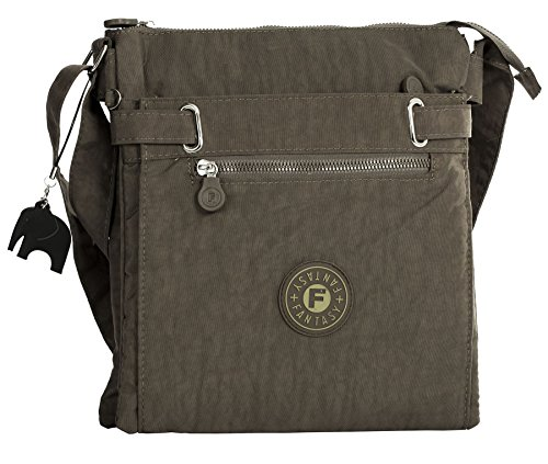 Fabric Multi Coffee Cross Messenger Compartment Body Bag Zip Big Handbag Shop qtfSSE