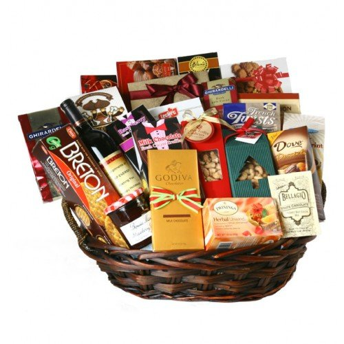 Kosherline Heartfelt Thoughts Sympathy Kosher Gift Basket by Kosherline