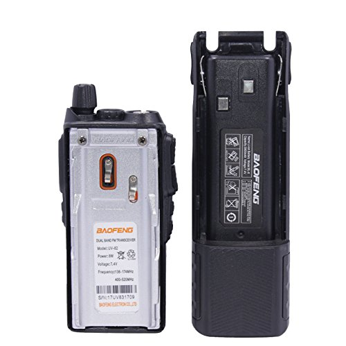 Baofeng UV-82 8W High Power 3800mAh Extended Battery Two Way Radio Dual Band Radio 136-174mhz&400-520mhz + 1 USB Programming Cable + 1 Car Charger Cable + 1 Speaker by BaoFeng (Image #1)