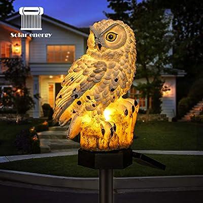 Lámpara LED solar de jardín, diseño de búho flamenco, resistente al agua, luces LED solares, iluminación al aire libre, luz nocturna decorativa para el hogar y el jardín: Amazon.es: Iluminación
