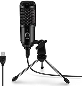USB Microphone for Computer ARCHEER Condenser Recording PC Microphone for Laptop MAC or Windows, Professional Plug&Play Studio Microphone for Vocal, Voice Overs, Streaming Broadcast and YouTube Video.