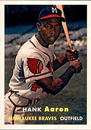 Amazoncom 2019 Topps Iconic Card Reprints Icr 68 Hank Aaron