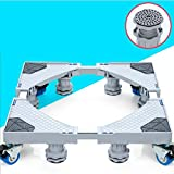 washer and dryer bases pedestal - ZfgG Furniture Dolly Roller Movable Base Size Adjustable With 4 Locking Wheels And 8 Strong Feet, Pedestal Telescopic Base For Portable Washing Machine Refrigerator Washer Dryer