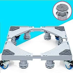DNSJB Muebles Dolly Roller tamaño de la Base movible Ajustable con 4 Ruedas de Bloqueo y 8 pies Fuertes, Base telescópica Pedestal para Lavadora portátil ...