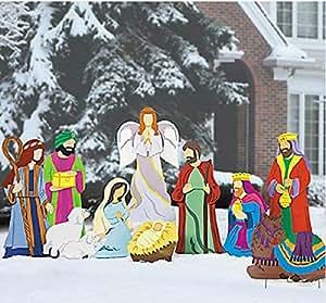 Amazon.com: Super Deluxe Nativity Scene - Large Outdoor ...