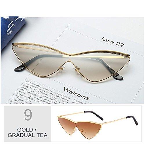 De TIANLIANG04 Gafas Black Gold Ojo Mujer Pequeñas Gafas Gradual Sol Lord Sol De De De De Gato Tea Oro Para Mujeres Cute Gafas Rossi De Rosa La XnanvrS