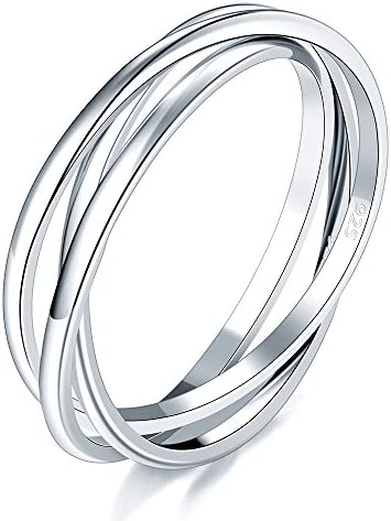 BORUO Sterling Silver Interlocked Rolling product image