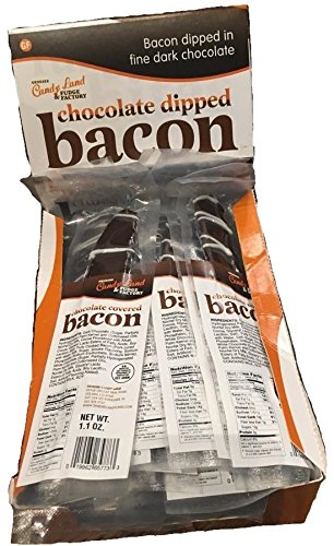 Genesee Chocolate Covered Bacon - 16 Full Strips (Individually Wrapped - 1.1 ...