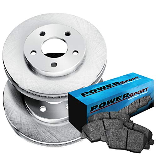 Fit 1984-1986 Nissan 300ZX Rear PowerSport Blank Brake Rotors+Ceramic Brake Pads