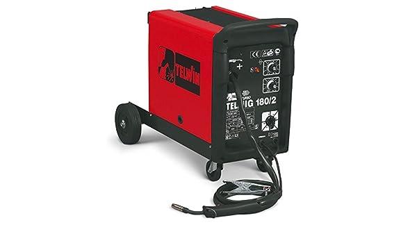 Telwin telmig 180/2 turbo Mig/Mag schw Hielo sgerät con 230 V, incluye manguera del paquete, sudor Grabadora, masa Juego de conector y Reductor de presión: ...