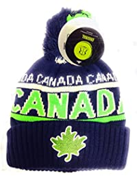 Robin Ruth - Navy/Neon Lime Canada Roots Unisex Beanie