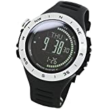 [LAD WEATHERSwiss sensor 100m water resistant Altimeter Weather (Sunny/ Cloudy/ Raining/ storm) Azimuth Watch