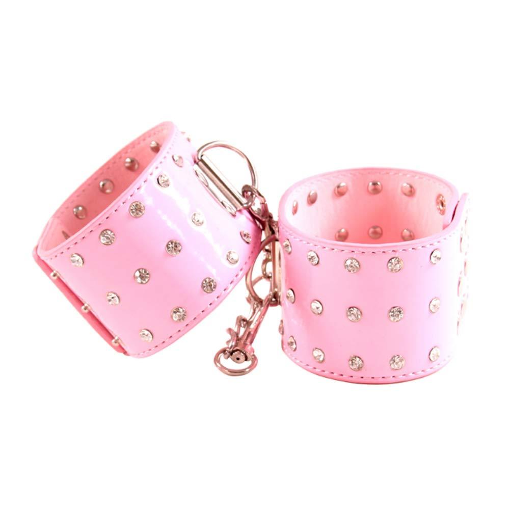 Pareja Cuero Fetiche ropa con interior Cómodo con ropa Esposas Puños de tobillo para adultos,Pink 350558