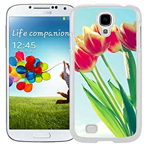 New Beautiful Custom Designed Cover Case For Samsung Galaxy S4 I9500 i337 M919 i545 r970 l720 With Tulip Bunch Macro (2) Phone Case