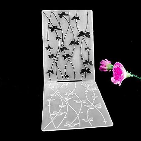 katoot @ para tartas plantilla plantillas de galletas Fondant molde, diseño de mariposas Vine plástico herramienta de panadería álbum Tarjetas álbumes de ...