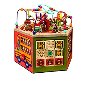 B toys – Wooden Activity Cube – Youniversity – Activity Center for Kids 1 year +