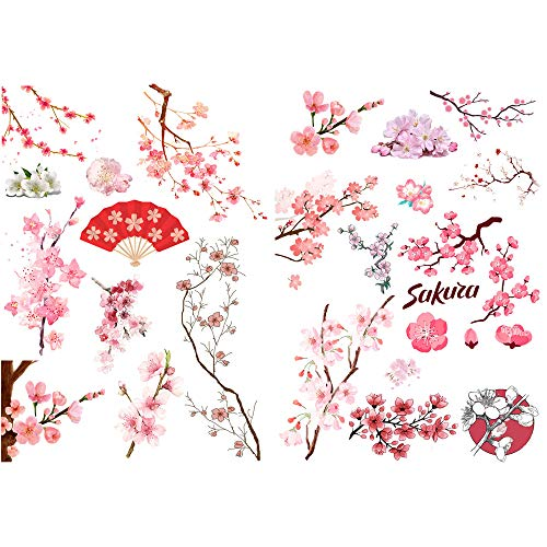 Pink Sakura Cherry Blossoms Precut Anti-UV Waterproof Decoration Album Planner Stickers Scrapbooking Diary Sticky Paper Flakes (PK091)