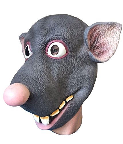 Roddy Rat Mask, Latex Movie Quality, Bachelor Party, Costume Masks, -