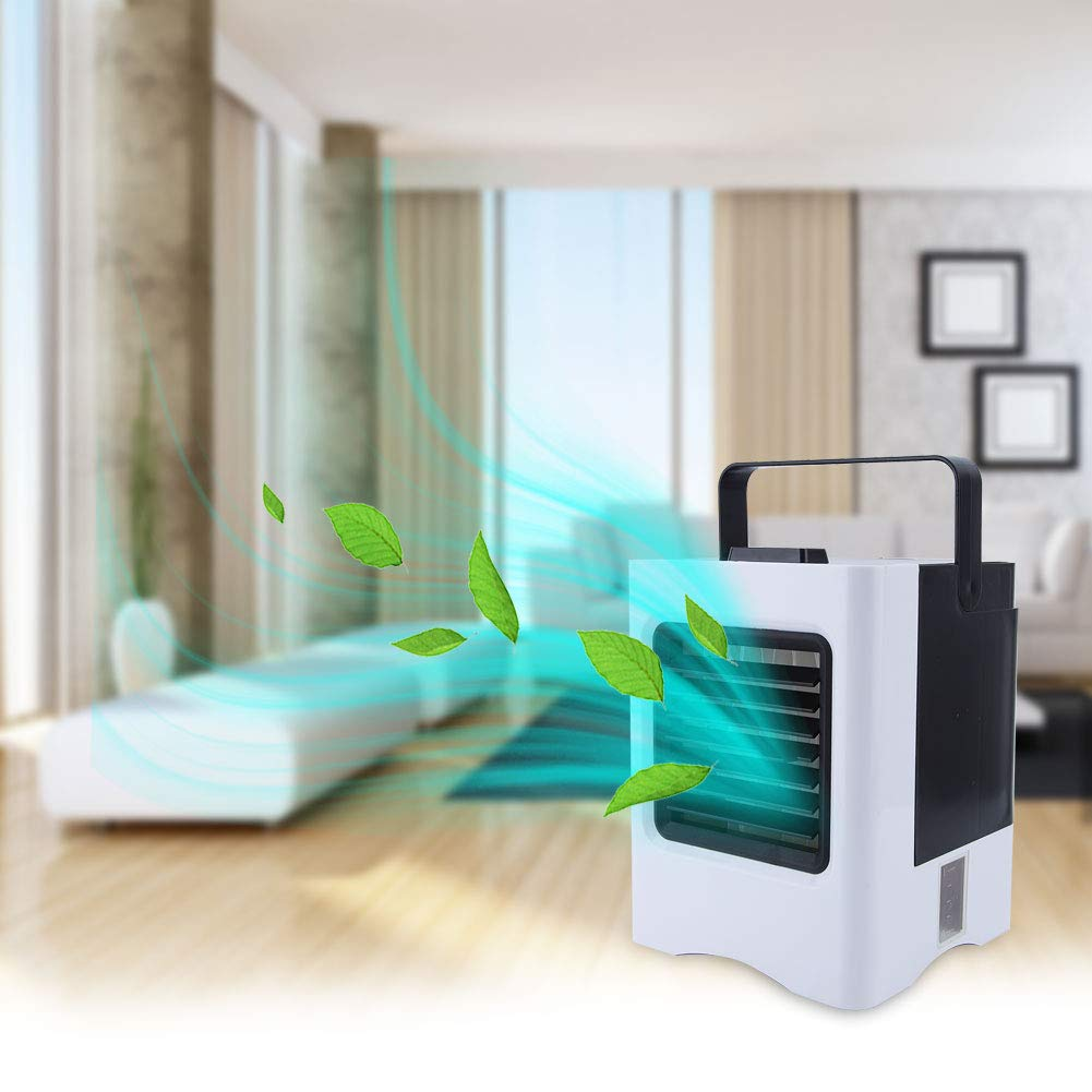 Mumusuki Mini Air Cooler Humidifier Cooling Fan Air Conditioner USB Rechargeable for Home Dormitory Office 12V 3.2W 1Pc