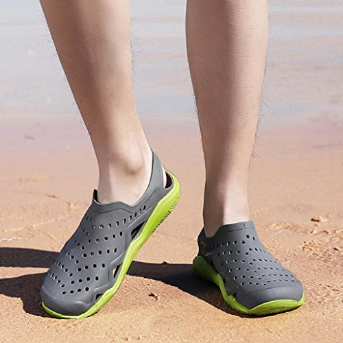 Light Sandals Men Summer Slipper Holiday Shoes Men's Wave Beach Hollow Kingfansion Swiftwater Clogs Gray for qYxPwx4IZ