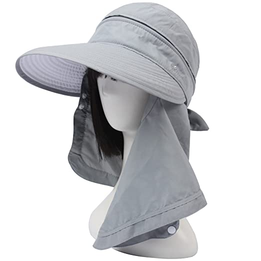e4ed3ebb968c0 Image Unavailable. Image not available for. Color  Song Qing Women Outdoor  Quick Drying Sun Hat with Face Neck Cover UV Protection ...