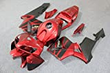Candy Red with Black Complete Fairing Bodywork Painted ABS plastic Injection Molding Kit w/ tank cover for 2005-2006 Honda CBR 600 RR CBR600RR 600RR