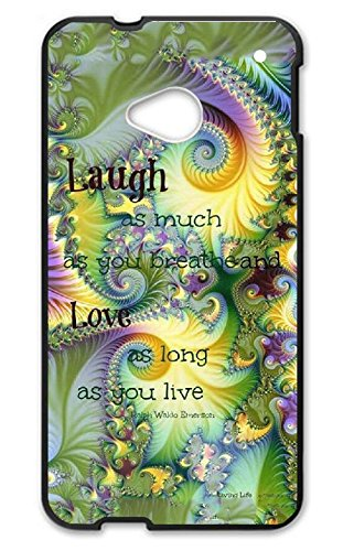 Custom HTC One M7 Case Live Laugh Love Hard PC For