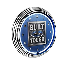 Neonetics Built Ford Tough Neon Wall Clock, 15-Inch