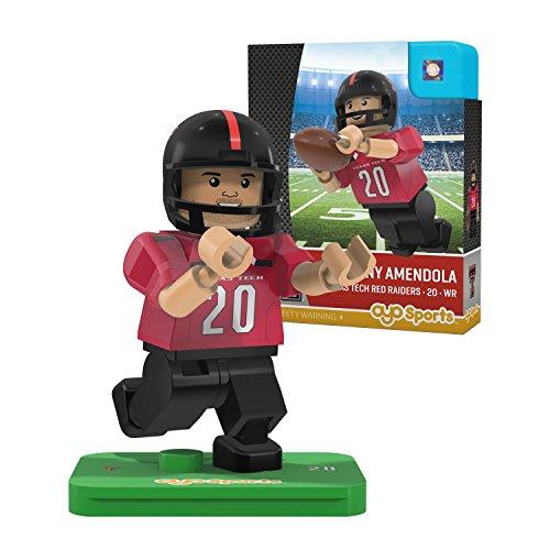 NCAA Texas Tech Red Raiders Danny Amendola Gen 2 Player Mini Figure, Small, Black