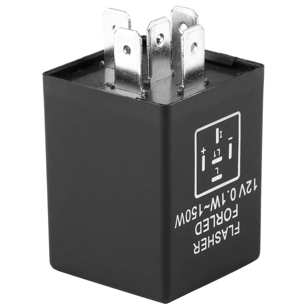 Decodificador de rel/é de intermitencia de 5 pines EP27 FL27 de se/ñal de giro para luces de se/ñal de giro de LED 12V